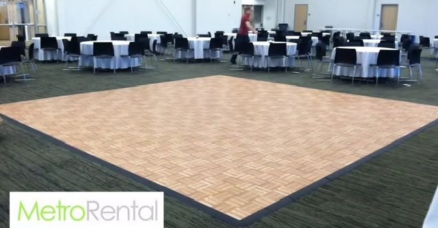 Portable Dance Floor On Carpet : Dance floor rental des moines iowa wedding